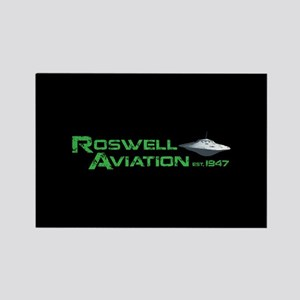 Roswell Aviation Rectangle Magnet