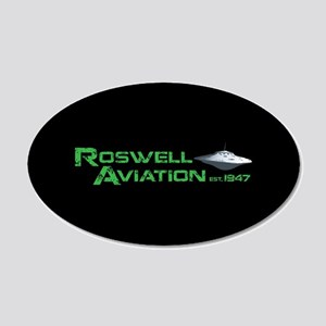 Roswell Aviation 20x12 Oval Wall Decal