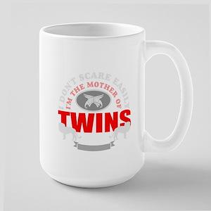 brave mother of twins Large Mug