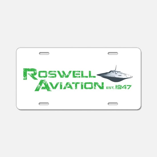 Roswell Aviation Aluminum License Plate