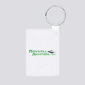 Roswell Aviation Aluminum Photo Keychain