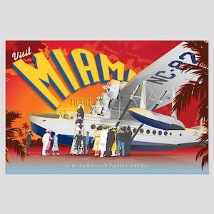 Vintage Miami Large Poster