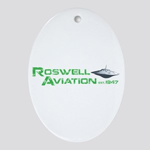 Roswell Aviation Ornament (Oval)