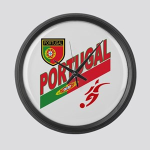 Portugal World Cup Soccer Large Wall Clock
