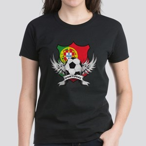 Portugal World Cup Soccer Women's Dark T-Shirt