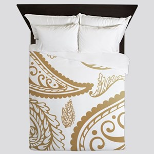 Toast Paisleys Queen Duvet
