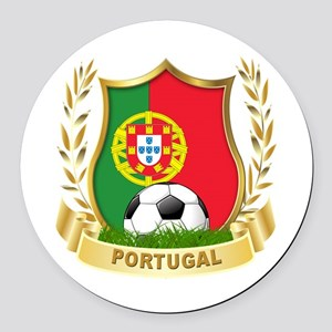 Portugal World Cup Soccer Round Car Magnet