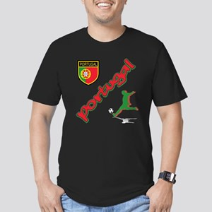 Portugal World Cup Soccer Men's Fitted T-Shirt (da