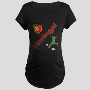 Portugal World Cup Soccer Maternity Dark T-Shirt