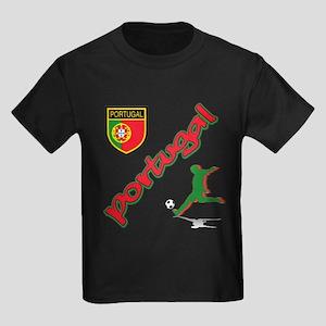 Portugal World Cup Soccer Kids Dark T-Shirt