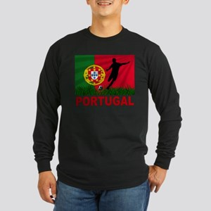 Portugal World Cup Soccer Long Sleeve Dark T-Shirt