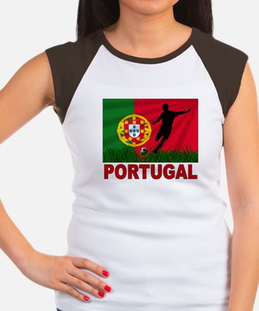 Portugal World Cup Soccer Women's Cap Sleeve T-Shi