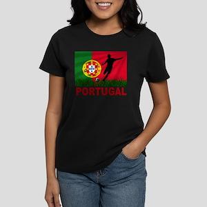 Portugal World Cup Soccer Women's Dark T-Shirt