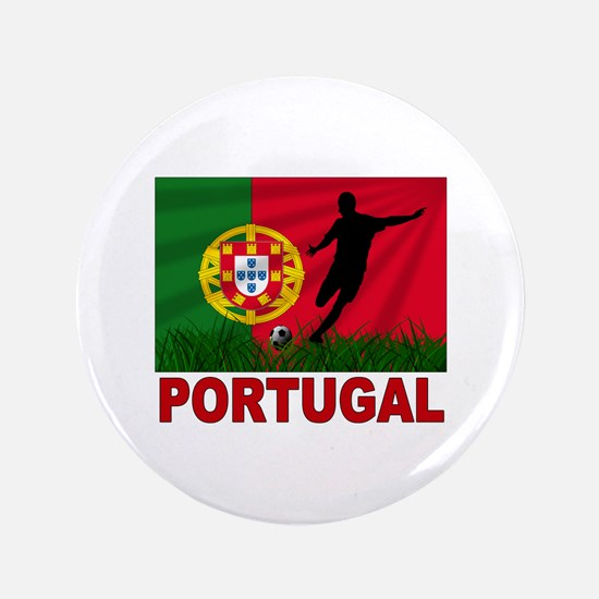 """Portugal World Cup Soccer 3.5"""" Button"""