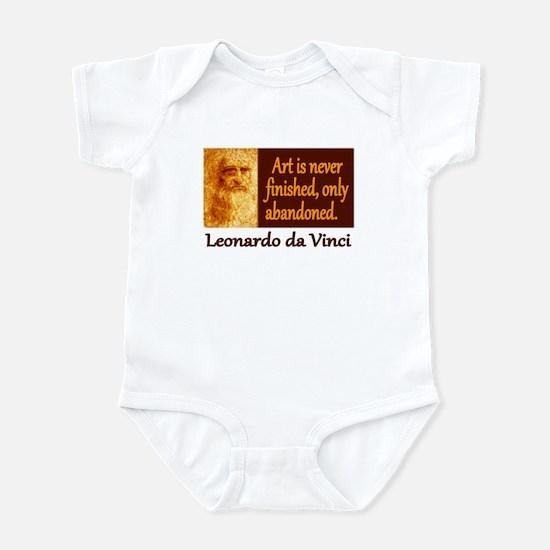 Da Vinci Quote Infant Bodysuit