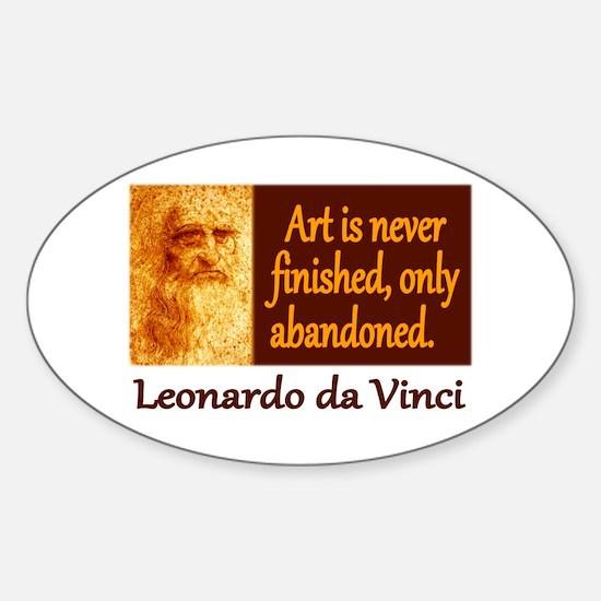 Da Vinci Quote Sticker (Oval)