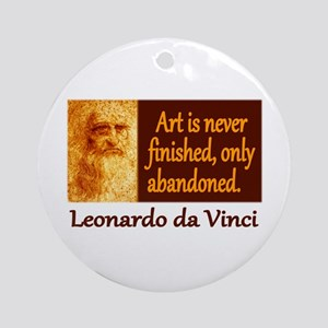 Da Vinci Quote Ornament (Round)