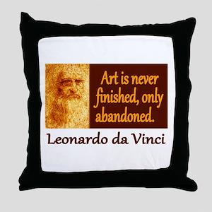 Da Vinci Quote Throw Pillow