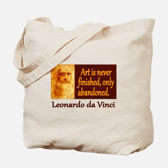 Da Vinci Quote Tote Bag