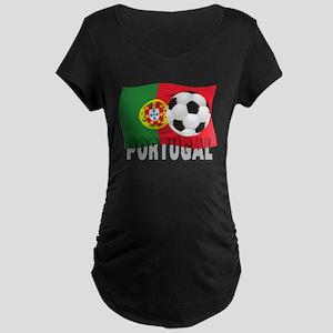 Portugal World Cup Soccer Maternity Dark T-Shirt