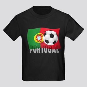 Portugal World Cup Soccer Kids Dark T-Shirt