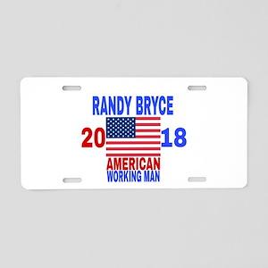 RANDY BRYCE 2018 Aluminum License Plate