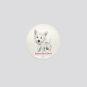 Woman's Best Friend Westie Mini Button
