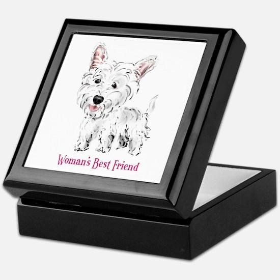 Woman's Best Friend Westie Keepsake Box