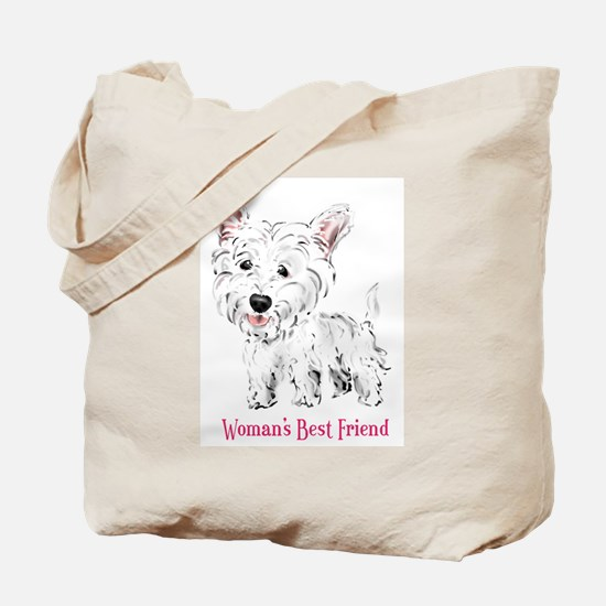 Woman's Best Friend Westie Tote Bag