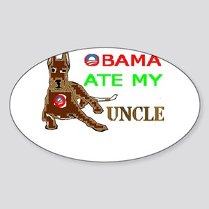 THE DOG EATER Sticker (Oval)