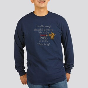 Piss on it! Long Sleeve Dark T-Shirt