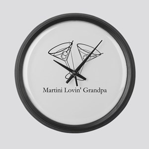Martini Lovin Grandpa Large Wall Clock