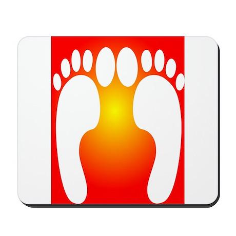ff foot orange.PNG Mousepad