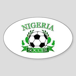 Nigeria Football Sticker (Oval)