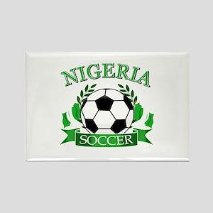 Nigeria Football Rectangle Magnet