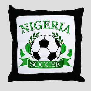 Nigeria Football Throw Pillow