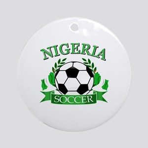 Nigeria Football Ornament (Round)