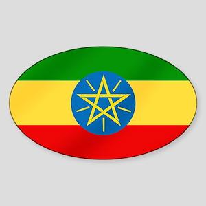 Ethiopian Flag Sticker (Oval)