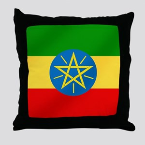 Ethiopian Flag Throw Pillow