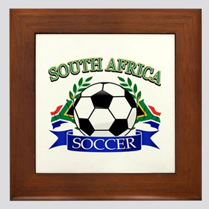 South Africa Football Framed Tile