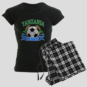 Tanzania Football Women's Dark Pajamas