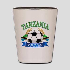 Tanzania Football Shot Glass