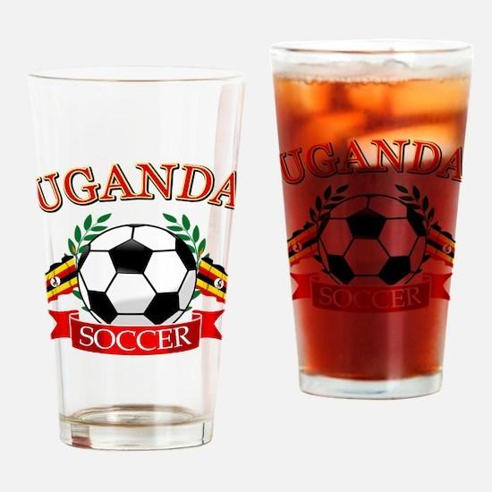Uganda Football Drinking Glass
