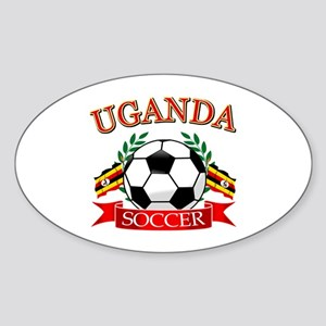 Uganda Football Sticker (Oval)