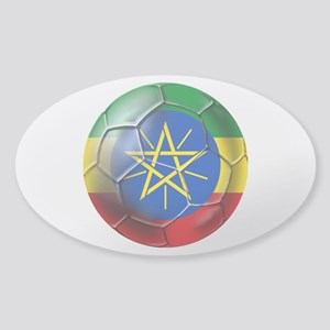 Ethiopia Football Sticker (Oval)