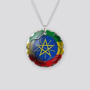 Ethiopia Football Necklace Circle Charm