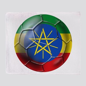 Ethiopia Football Throw Blanket