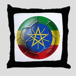 Ethiopia Football Throw Pillow