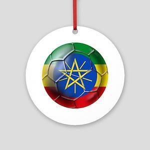 Ethiopia Football Round Ornament
