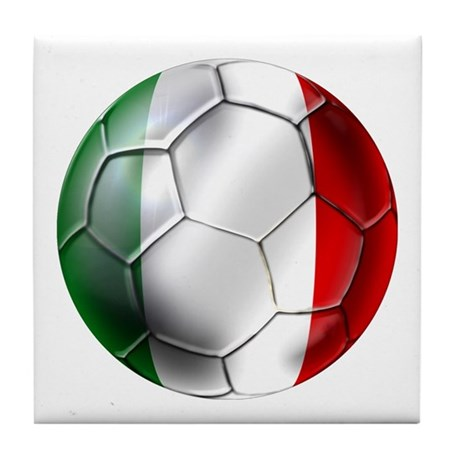 Italy Italia Football Tile Coaster